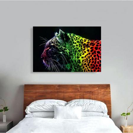 Tablou Canvas - Neon leopard3