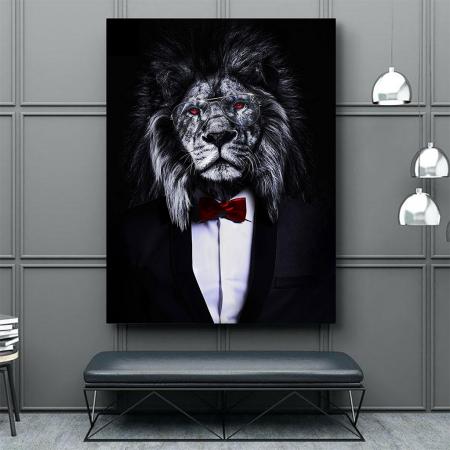Tablou Canvas - Corporate lion [4]