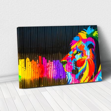Tablou Canvas - Graffiti lion [0]