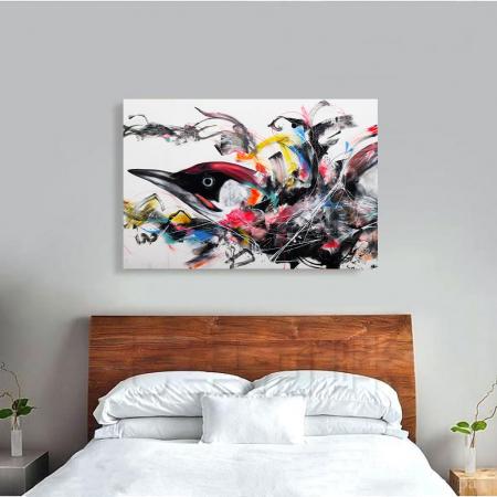 Tablou Canvas - Grafitti bird3