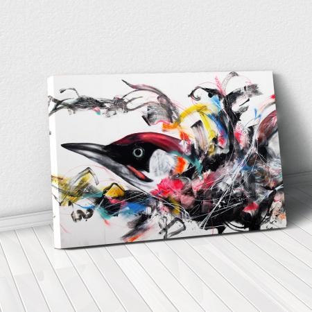 Tablou Canvas - Grafitti bird0