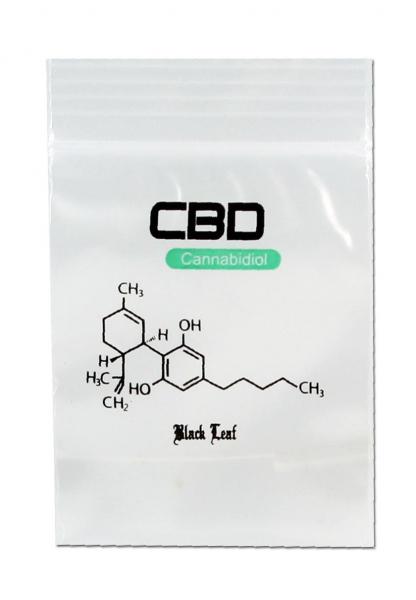 Punga Resigilabila Black Leaf CBD, 40x60mm, 100buc 0