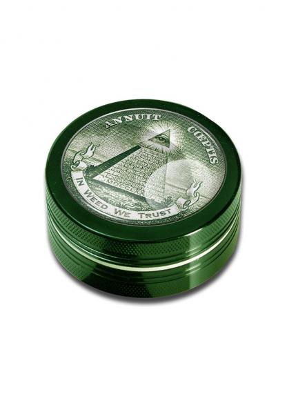 Grinder 'Black Leaf' In Weed We Trust, 2 Parti, Ø50mm 0