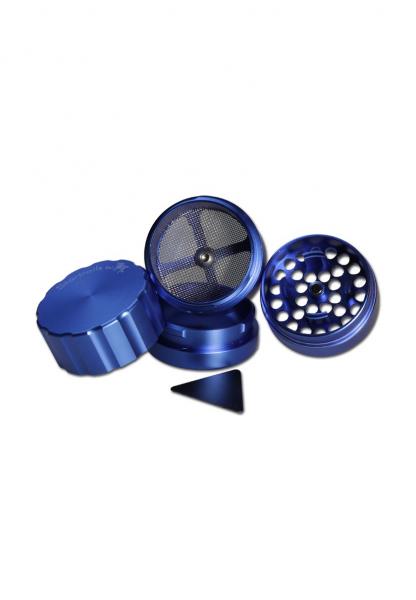 Grinder 'Black Leaf' Startrails, Albastru, 4 parti, Ø42mm 1