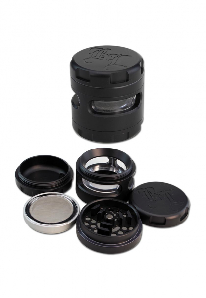 Grinder 'Black Leaf' Windoz, 4 Parti, Negru, Ø62mm 0