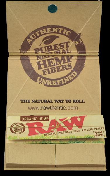 Foite Canepa Organic RAW Artesano 1 1/4 cu Filtre si Tava 1