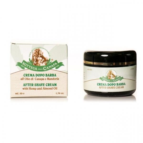 Crema After-Shave cu ulei de canepa si migdale, Organic 0