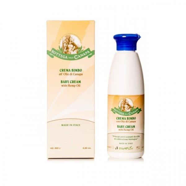 Baby Cream cu Ulei de Canepa, Organic, 200ml 0
