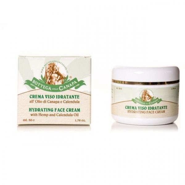 Crema de fata hidratanta cu ulei de canepa si calendula, Organic, 50ml 0