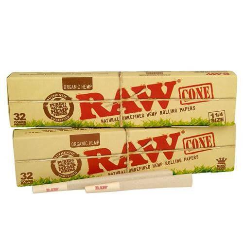 Conuri din canepa pre-rulate RAW, Organic 1 1/4 x32 [0]