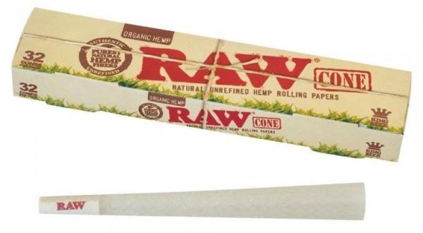 Conuri din canepa pre-rulate RAW, King Size Organic x32 [1]