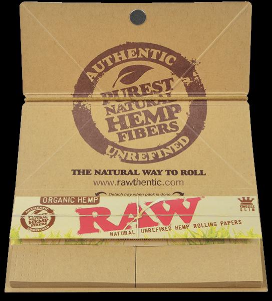 Foite Canepa Organic RAW Artesano King Size Slim cu Filtre si Tava 1