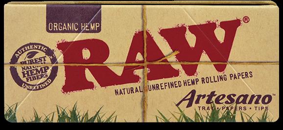 Foite Canepa Organic RAW Artesano King Size Slim cu Filtre si Tava 0