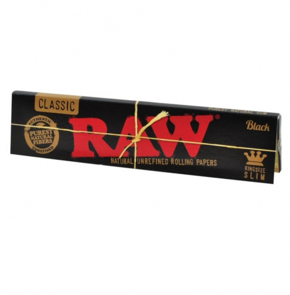 Foite RAW, Black King Size Slim 0