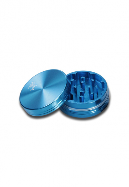 Grinder 'Black Leaf', Al SkyBlue, 2 Parti, Ø40mm 1
