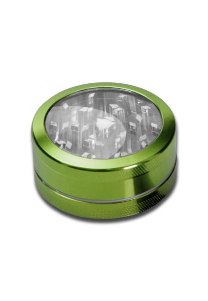 Grinder Neutral Window, Verde, 2 parti, Ø50mm [0]