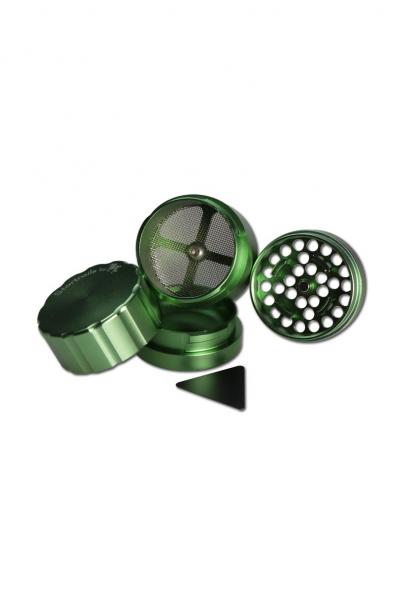 Grinder 'Black Leaf' Startrails, Verde, 4 parti, Ø42mm 1