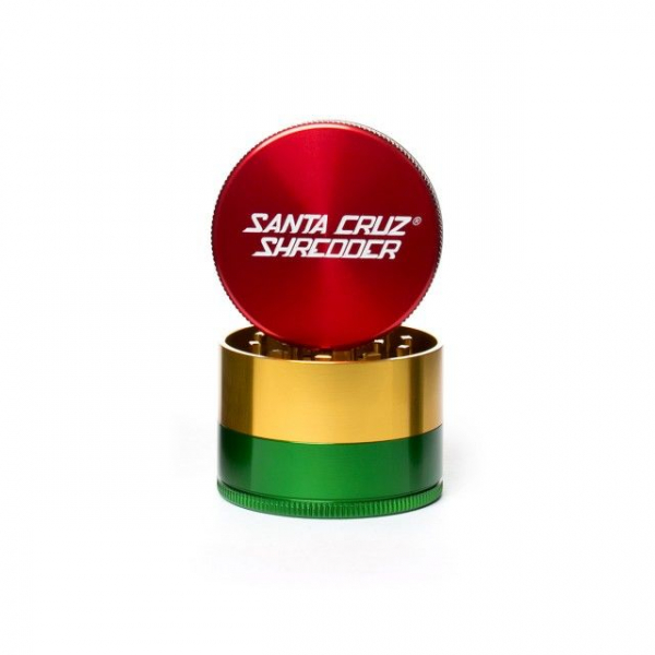 Grinder 'Santa Cruz' Medium, Rasta, 3 Parti, Ø53mm 0