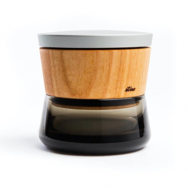 Grinder 'Stona' Premium, Lemn de Cires, Pearl Grey 0