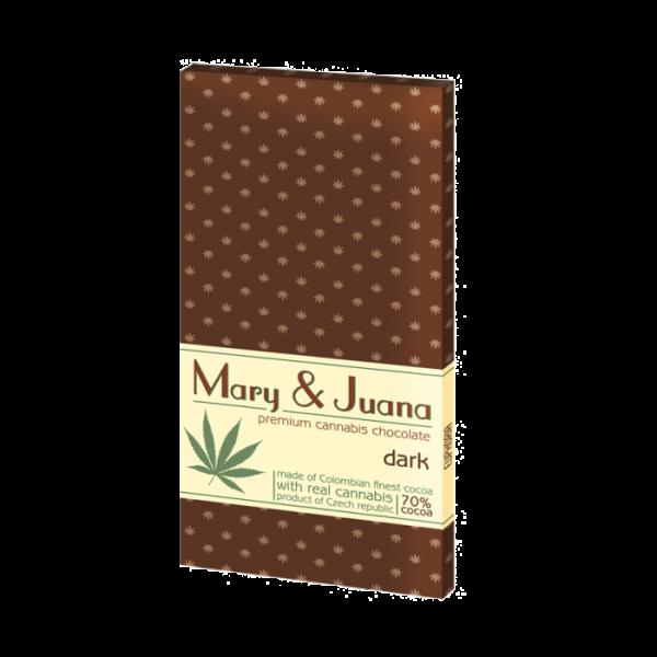 Ciocolata premium 'Euphoria' Mary & Juana Dark, 95gr 0