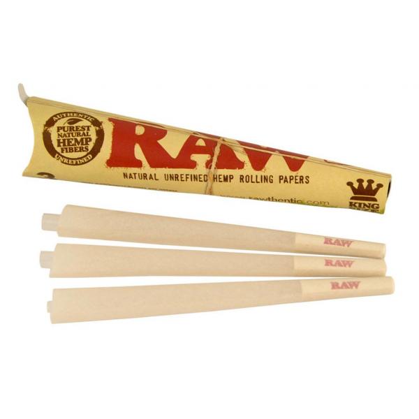 Conuri din canepa pre-rulate RAW, King Size Organic x3 0