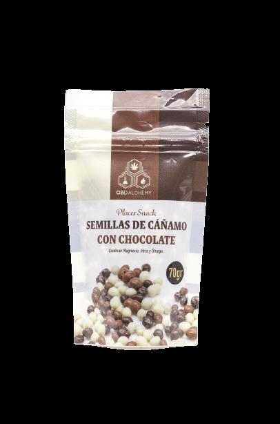 Seminte de canepa cu ciocolata, 70gr [0]