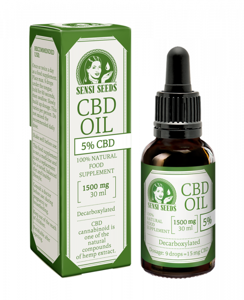 Ulei CBD 5%, 1500mg, Sensi Seeds, Full Spectrum, 30ml 0