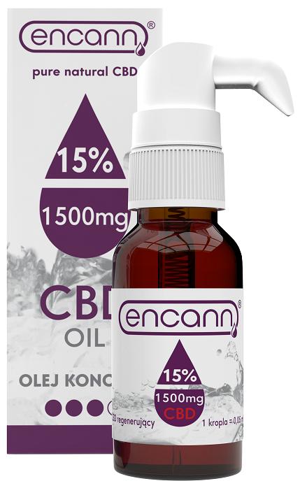 Ulei CBD 15% Encann, in Ulei de Canepa, Spectru Larg, 10ml 0
