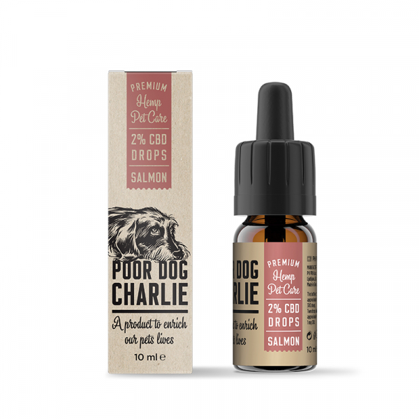 Ulei CBD 2%, 200mg, pentru Animale, Aroma Somon, PharmaHemp, Full Spectrum, 10ml 0