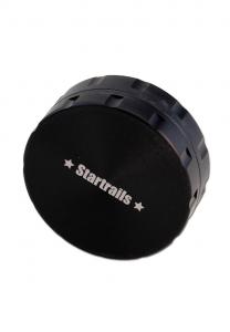 Grinder 'Black Leaf' Startrails, 2 Parti, Argintiu, Ø62mm2