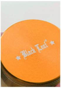 Grinder 'Black Leaf' Mandala, 4 parti, Amber, Ø50mm1