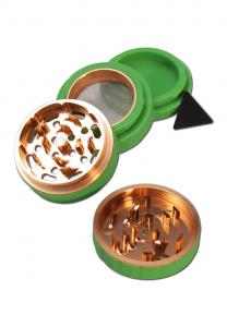 Grinder Silicon, Verde, 4 parti, Ø63mm [0]