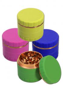 Grinder Silicon, Verde, 4 parti, Ø63mm [1]