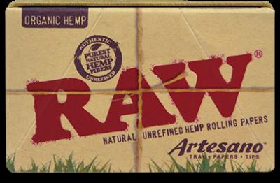 Foite Canepa Organic RAW Artesano 1 1/4 cu Filtre si Tava0