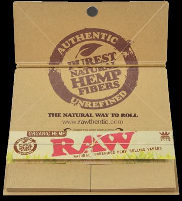 Foite Canepa Organic RAW Artesano King Size Slim cu Filtre si Tava1