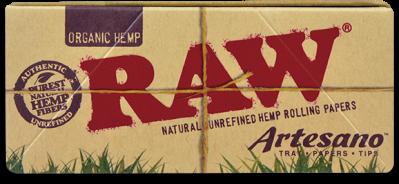 Foite Canepa Organic RAW Artesano King Size Slim cu Filtre si Tava0