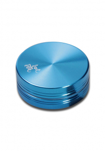 Grinder 'Black Leaf', Al SkyBlue, 2 Parti, Ø40mm0