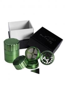 Grinder 'Black Leaf' Startrails, Verde, 4 parti, Ø42mm0