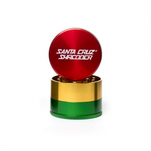 Grinder 'Santa Cruz' Medium, Rasta, 3 Parti, Ø53mm0