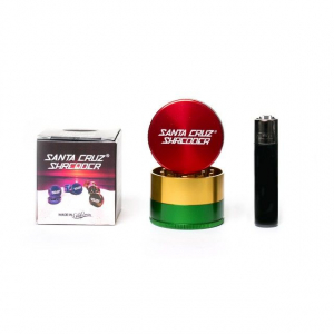 Grinder 'Santa Cruz' Medium, Rasta, 3 Parti, Ø53mm1