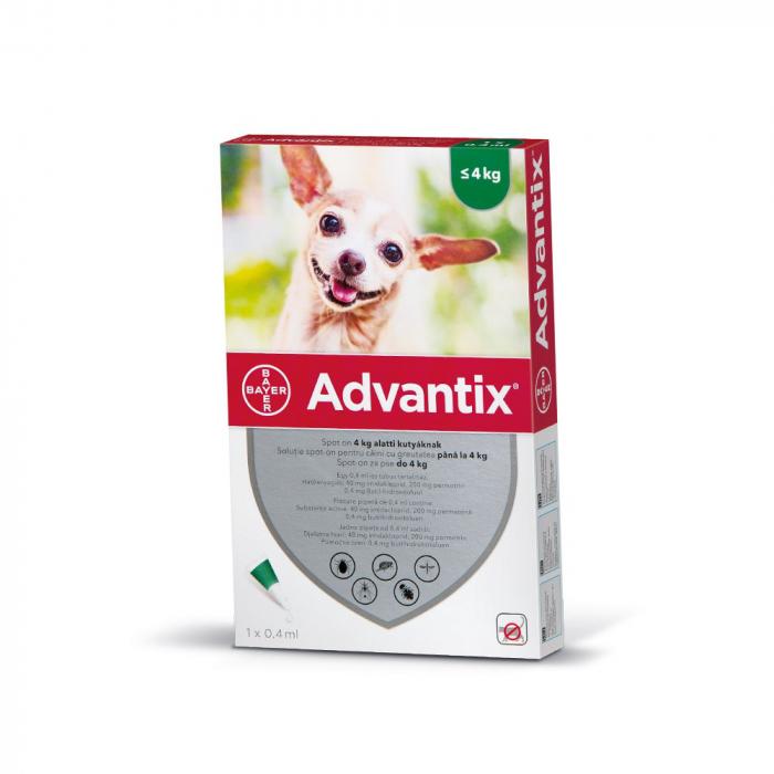 Pipeta Antiparazitara Advantix pentru Caini Intre 1-4 kg [0]