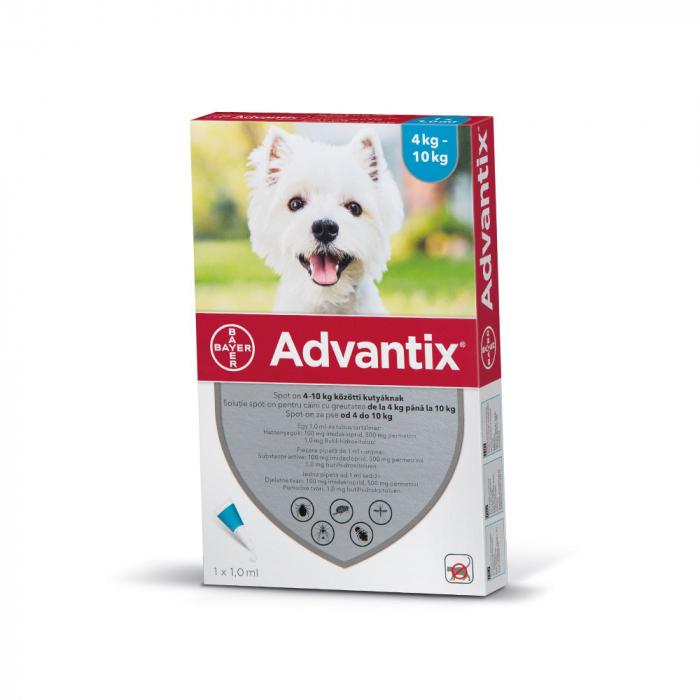 Pipeta Antiparazitara Advantix pentru Caini Intre 4 - 10 kg [0]