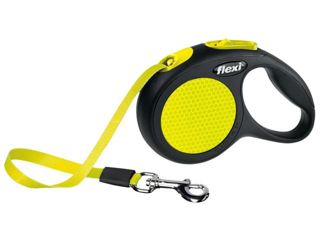 Trixie Lesa Flexi Neon Banda XS: 3m/12kg, Galben Neon 209301 [0]