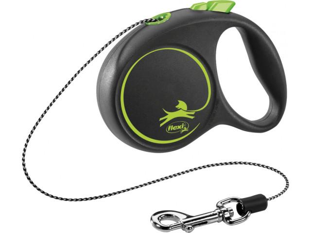 Trixie Lesa Flexi Black Design Snur XS: 3m/8kg, Green 12244 [0]