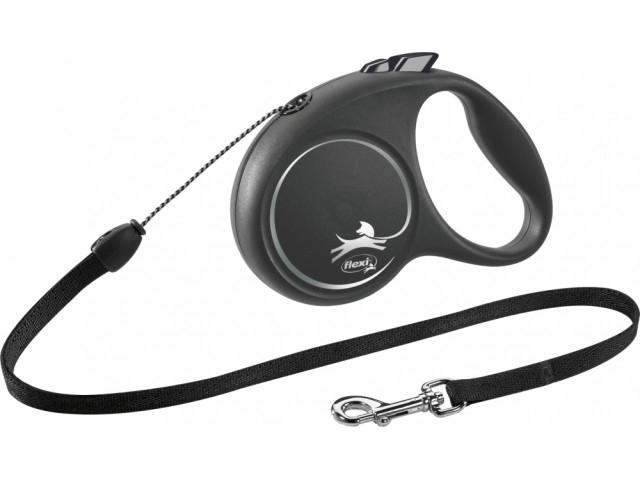 Trixie Lesa Flexi Black Design Snur S: 5m/12kg, Negru 12251 [0]