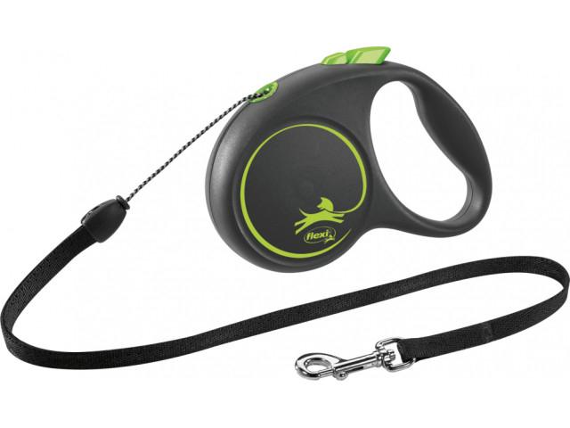 Trixie Lesa Flexi Black Design Snur S: 5m/12kg, Green 12254 [0]