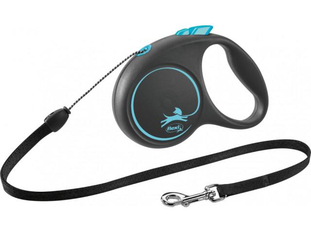 Trixie Lesa Flexi Black Design Snur S: 5m/12kg, Albastru 12252 [0]