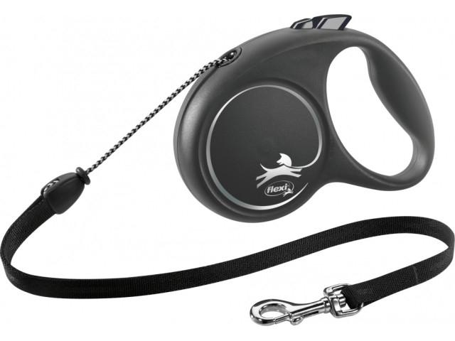 Trixie Lesa Flexi Black Design Snur M: 5m/20kg, Negru 12261 [0]