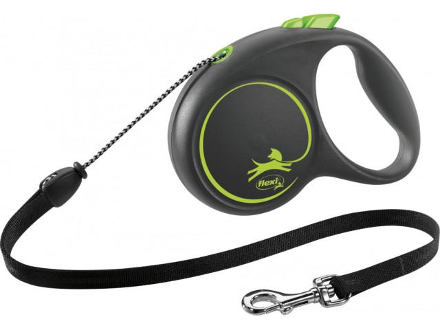 Trixie Lesa Flexi Black Design Snur M: 5m/20kg, Green 12264 [0]
