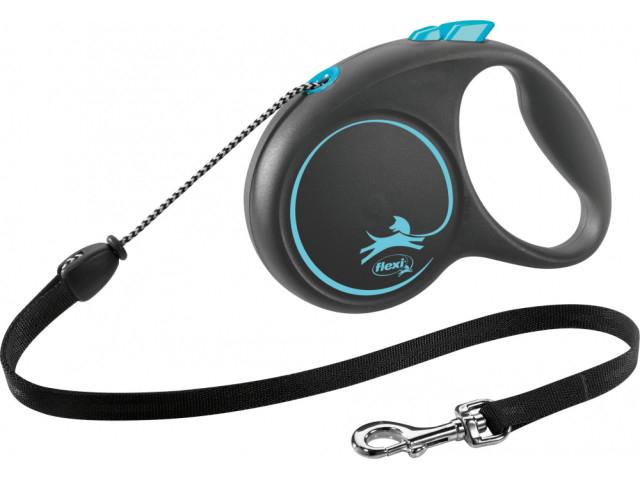 Trixie Lesa Flexi Black Design Snur M: 5m/20kg, Albastru 12262 [0]